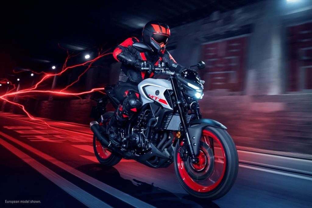 2020 Yamaha MT-03 side