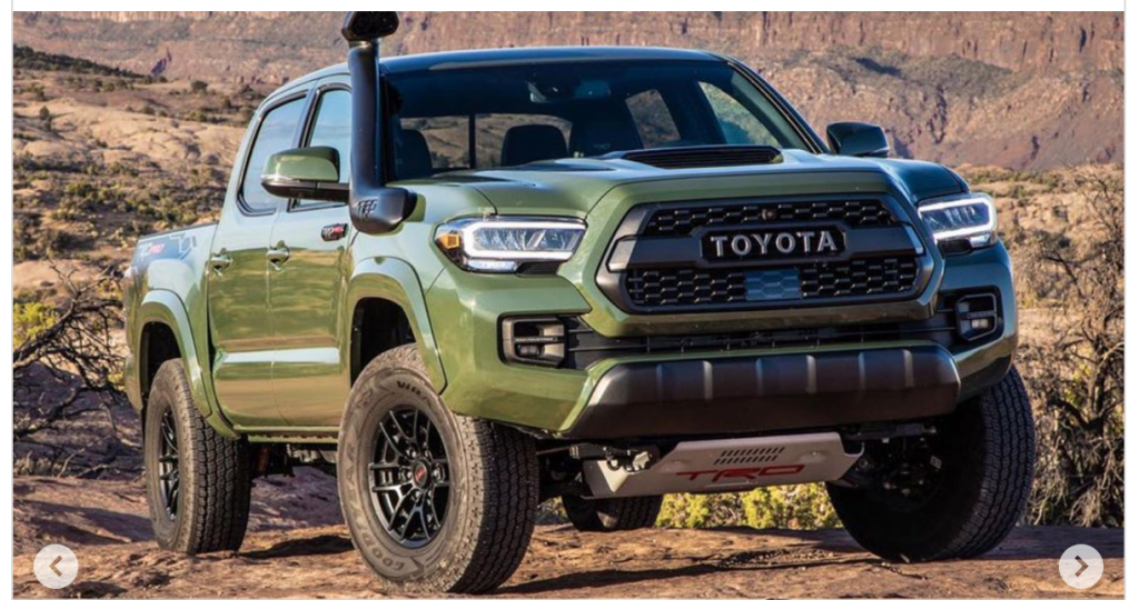 2021 Toyota Tacoma TRD Pro refresh parked in desert