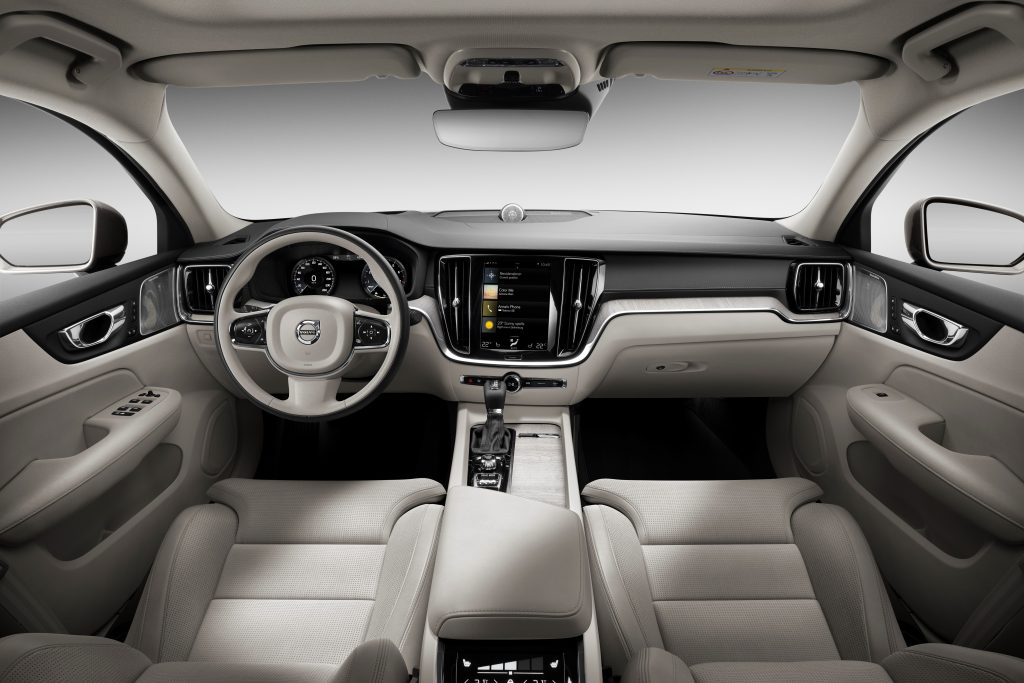 The Volvo S60's beige Interior.