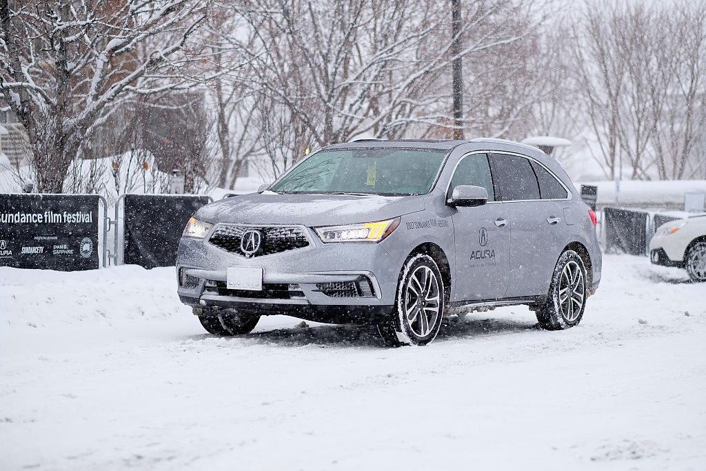 A view of the 2017 Acura MDX Sport Hybrid SH-AWD during Sundance Film Festival 2017