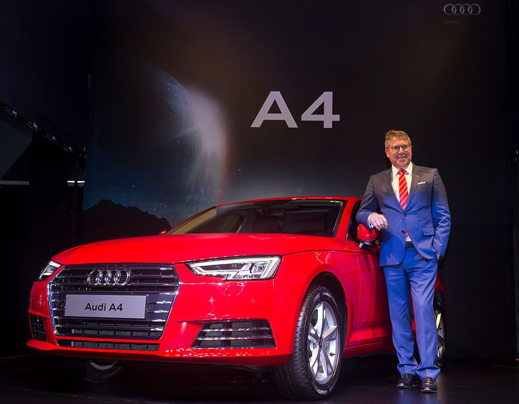 Joe King (Head Audi India), at the launch of Audi A4 2016