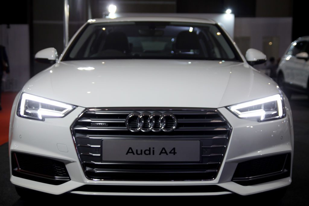 The Audi A4 has shown in the opening of the Indonesia International Motor Show (IIMS) 2019 at Jakarta International Expo