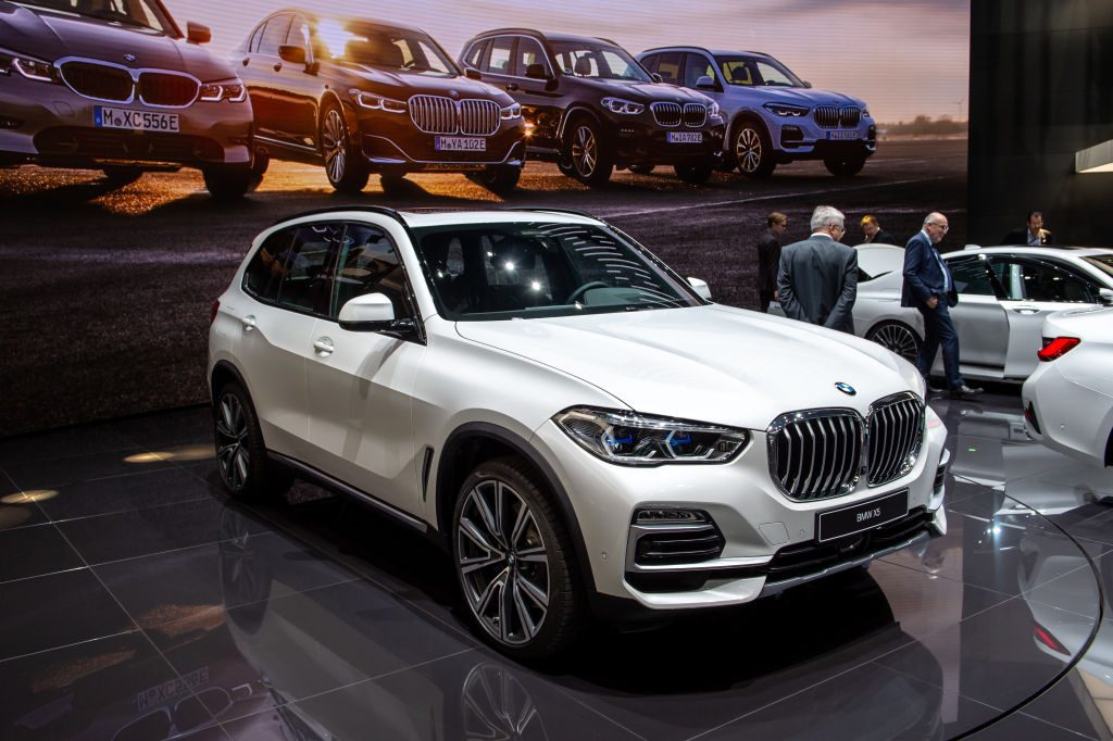 BMW X5 is displayed during the second press day at the 89th Geneva International Motor Show