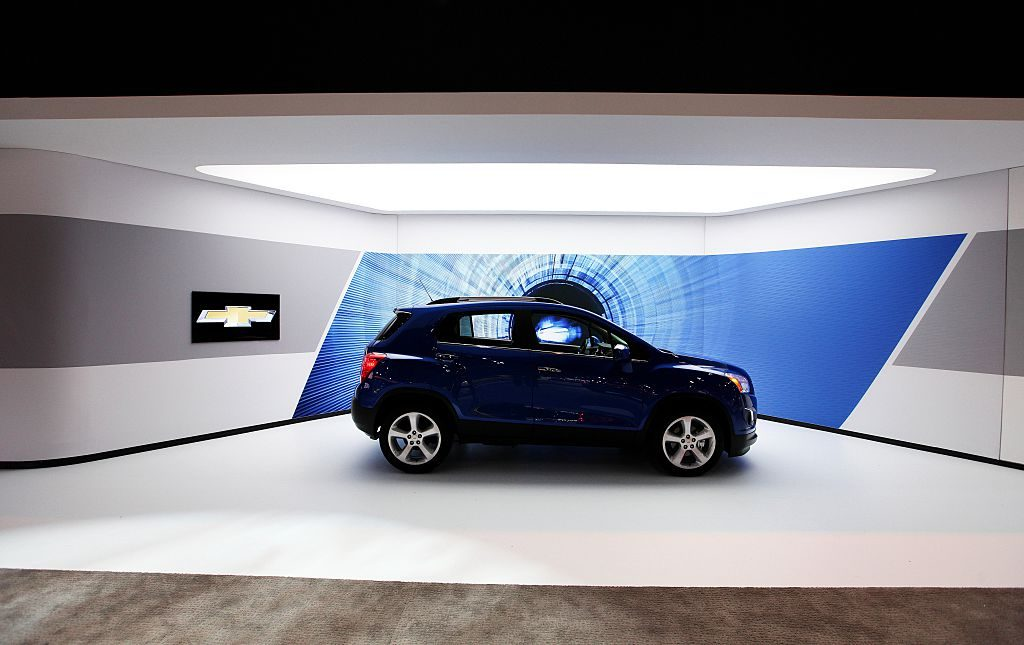 A new Chevrolet Trax on display