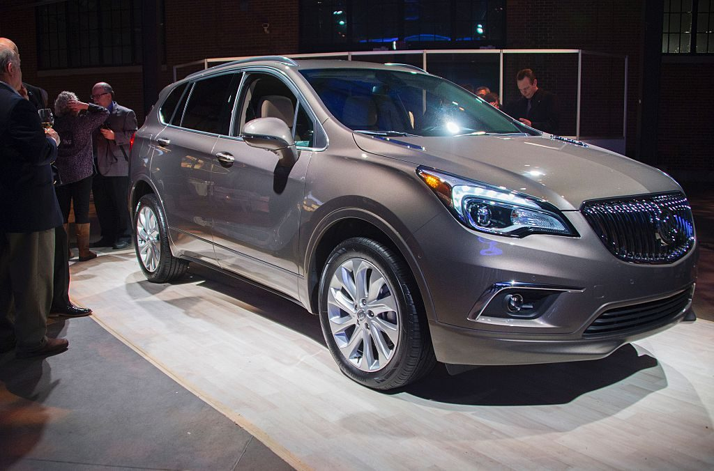The Buick Envision on display during the Buick reveal event ahead of the North American International Auto Show