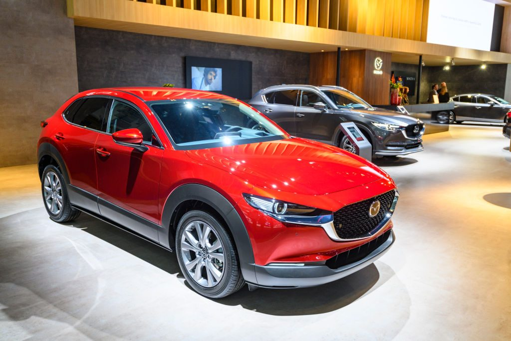 2020 Mazda CX-30 compact crossover SUV on display at Brussels Expo