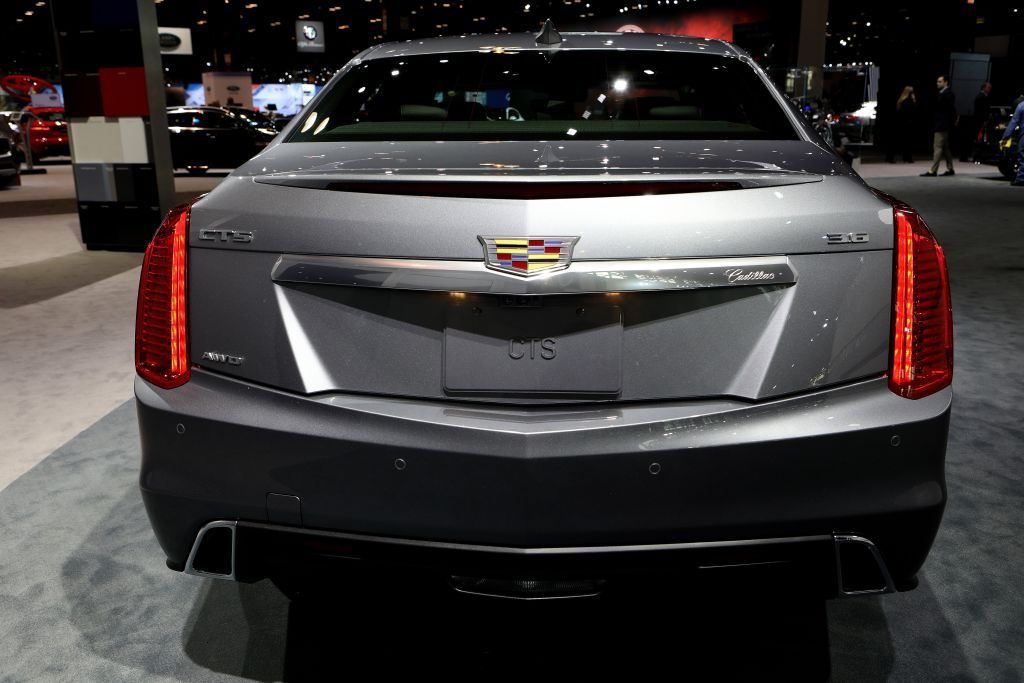2018 Cadillac CTS is on display at the 110th Annual Chicago Auto Show at McCormick Place