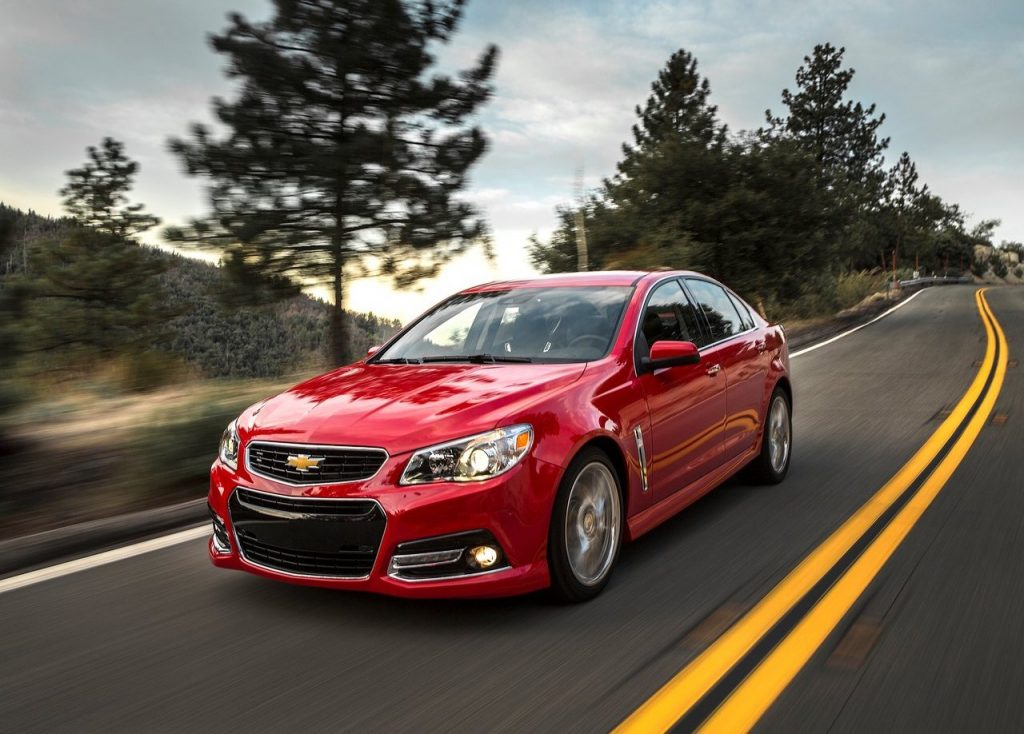 a red Chevrolet SS
