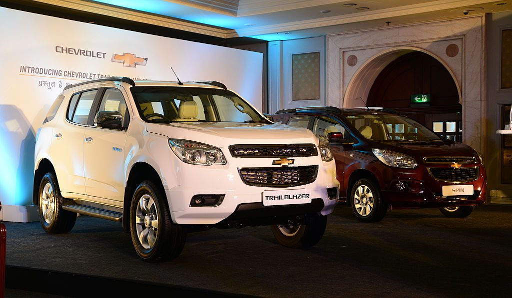A launch ceremony of Chevrolet Trailblazer and Spin