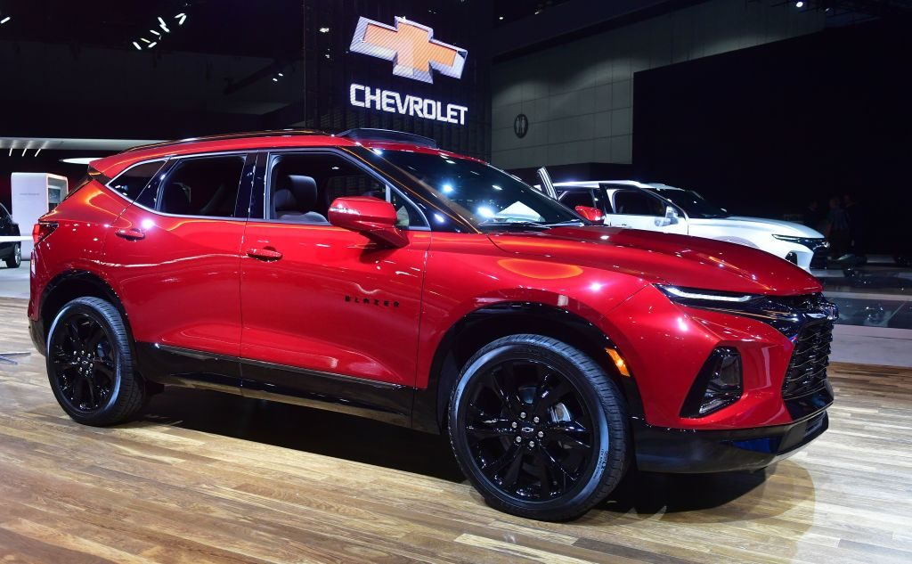 Chevy Blazer on display at auto show
