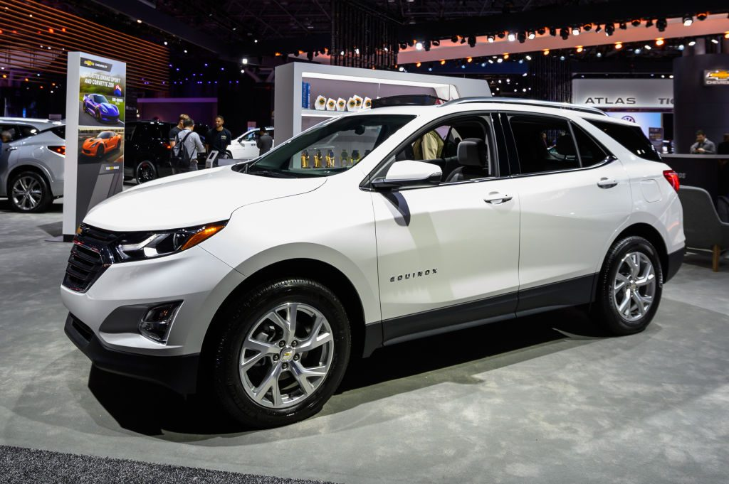Chevy Equinox on display at auto show