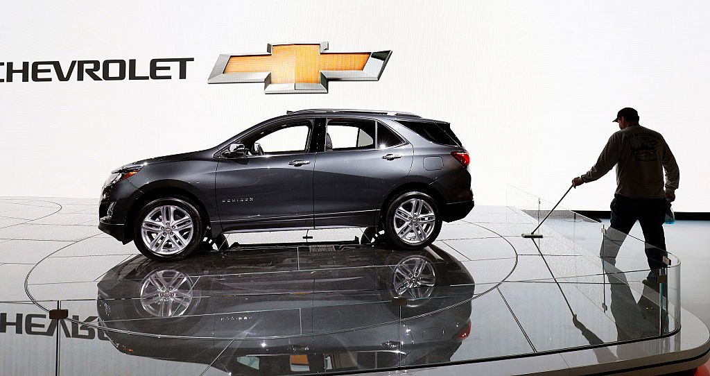 The Chevrolet Equinox display is shown at the 2017 North American International Auto Show (NAIAS)