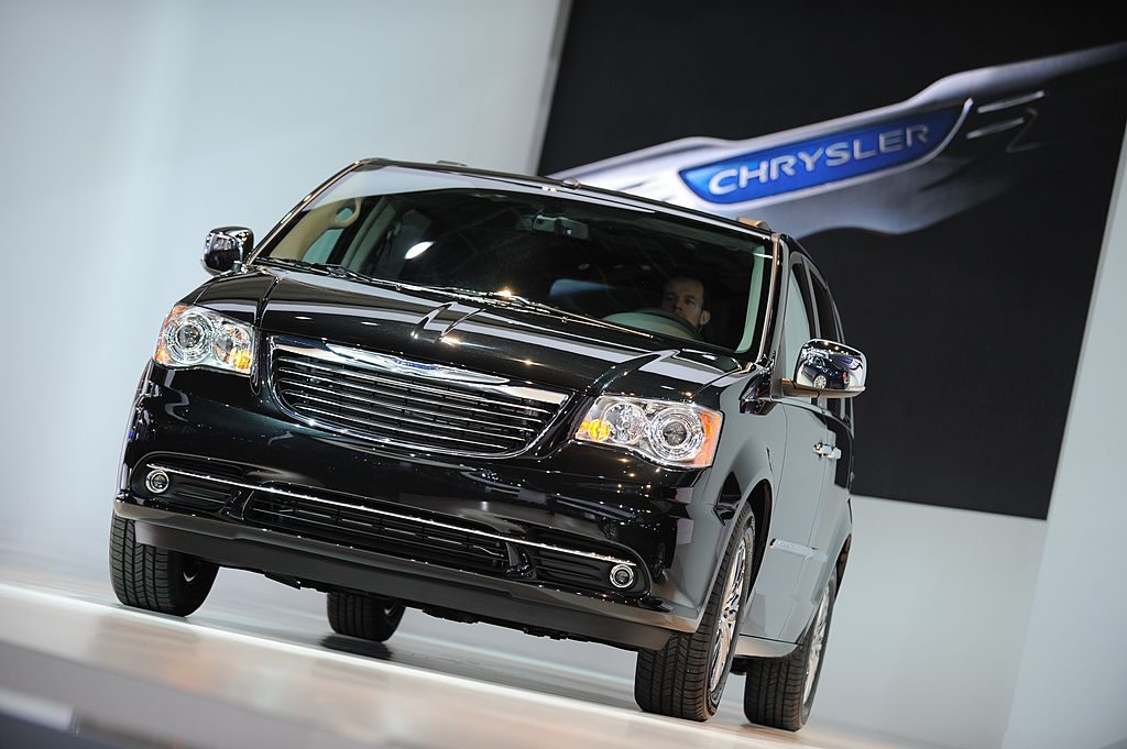 The Chrysler Town & Country minivan is displayed during the press preview of the North American International Auto Show