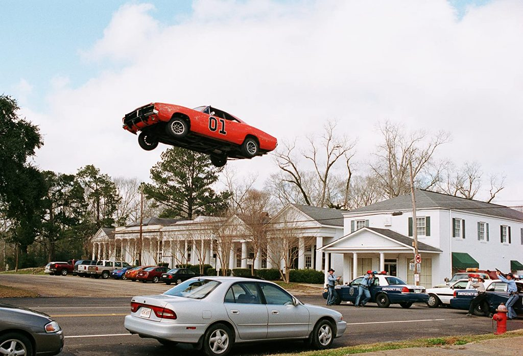 A scene from the 2005 movie Dukes of Hazzard.
