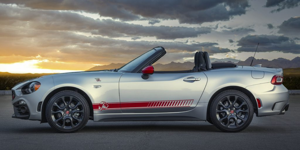 2020 Fiat 124 Spyder Abarth at sunrise