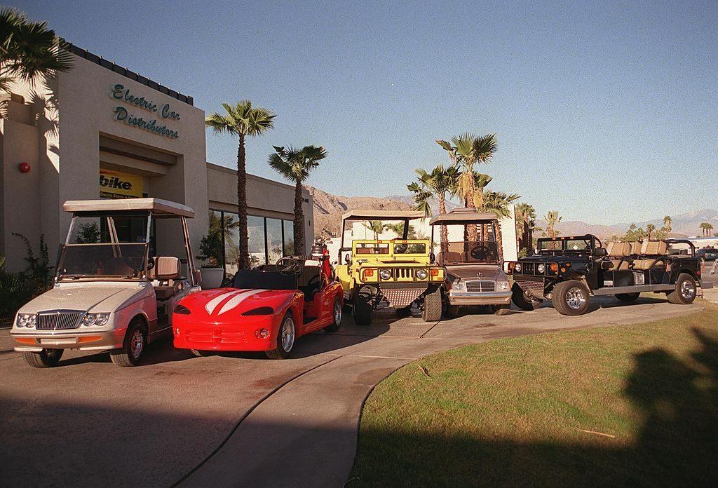 Several Custom Golf Carts