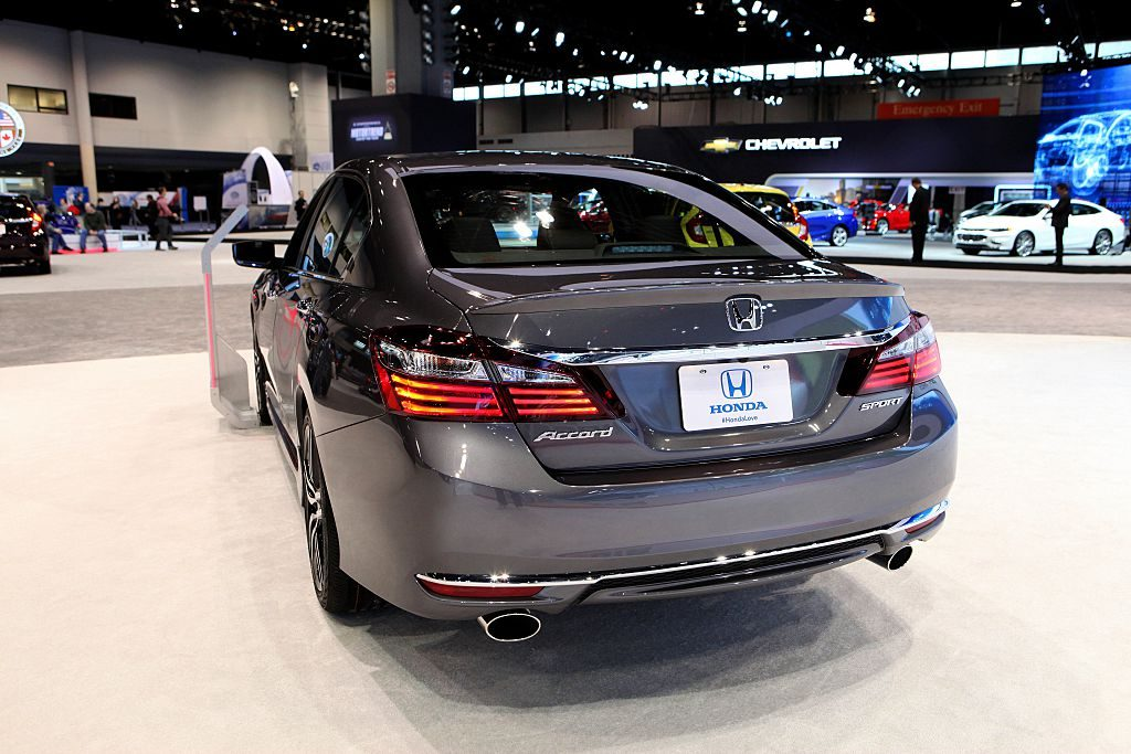 A Honda Accord on display at an auto show