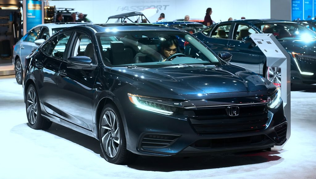 The Honda Insight, named Green Car of the Year, on display in Los Angeles, California on November 29, 2018 at Automobility LA, formerly the LA Auto Show Press and Trade Days
