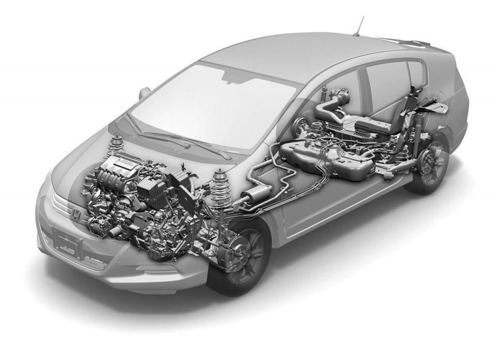 2010 Honda Insight cutaway