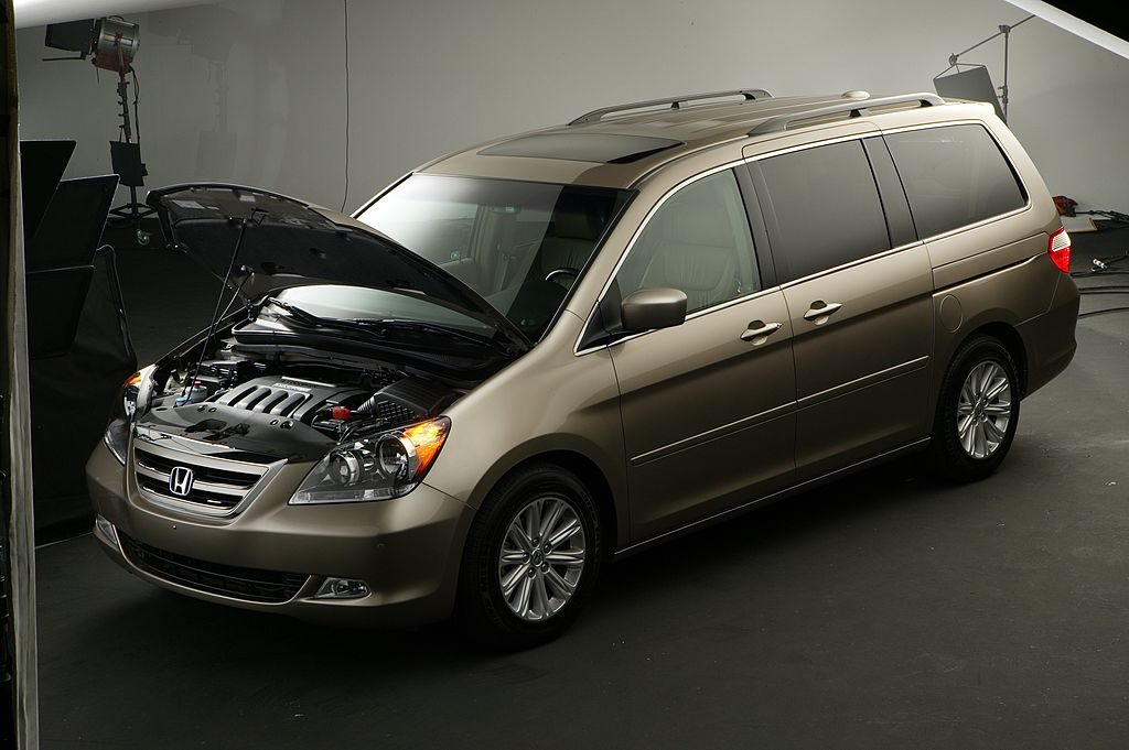 A 2005 Honda Odyssey on display
