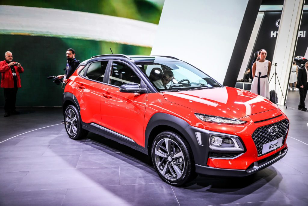 The Hyundai Kona on display at the 2017 Frankfurt Auto Show 'Internationale Automobil Ausstellung' (IAA)