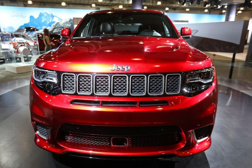A Jeep Grand Cherokee Supercharger is displayed at the New York International Auto Show