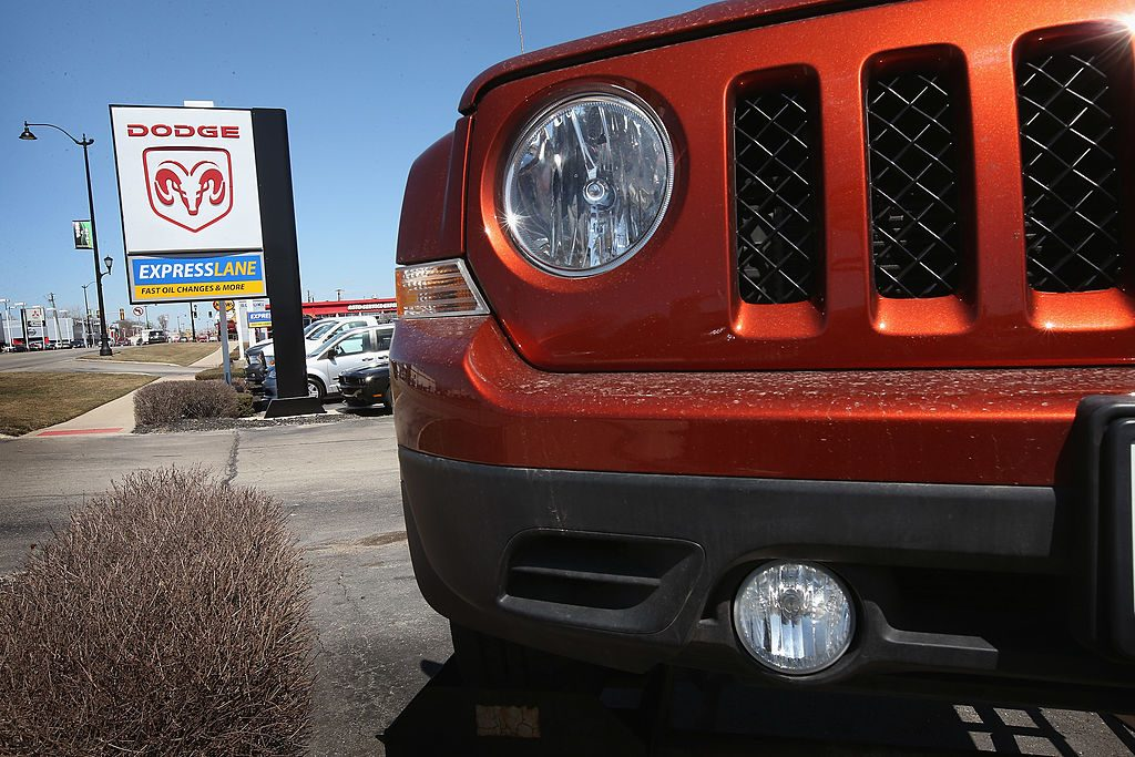 A Jeep Patriot sits on the lot at Jack Phelan Dodge