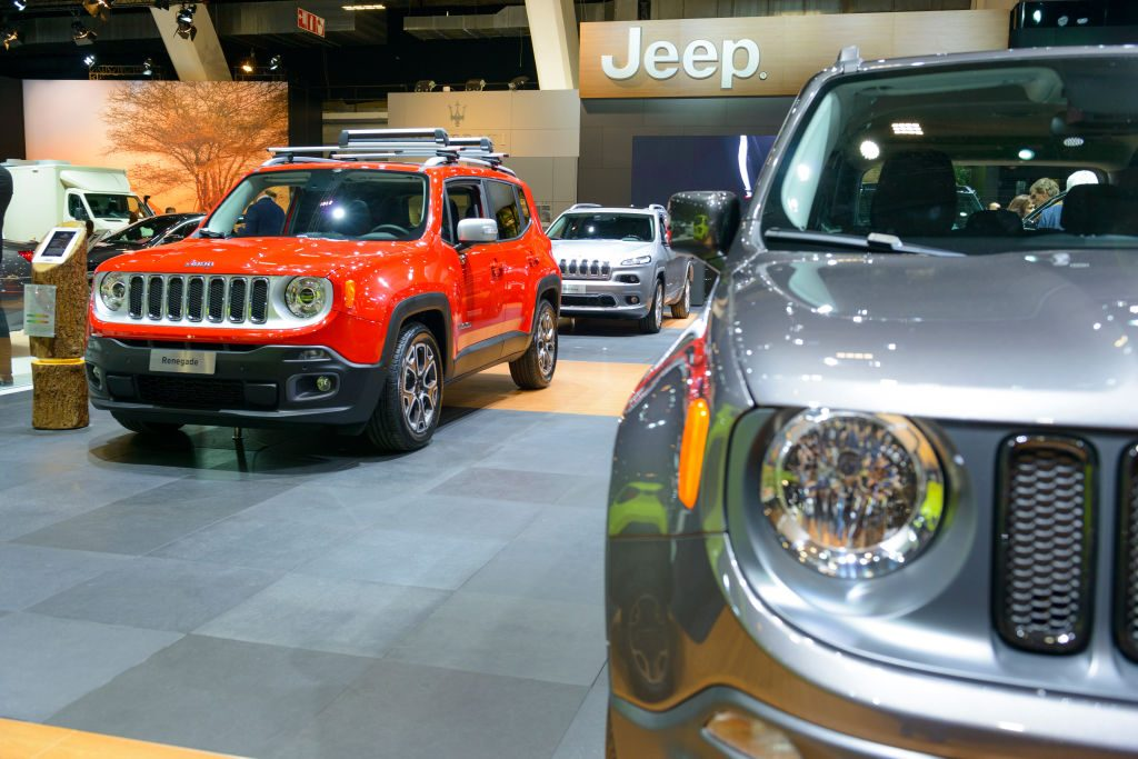 Jeep Renegade compact crossover SUV on display at Brussels Expo