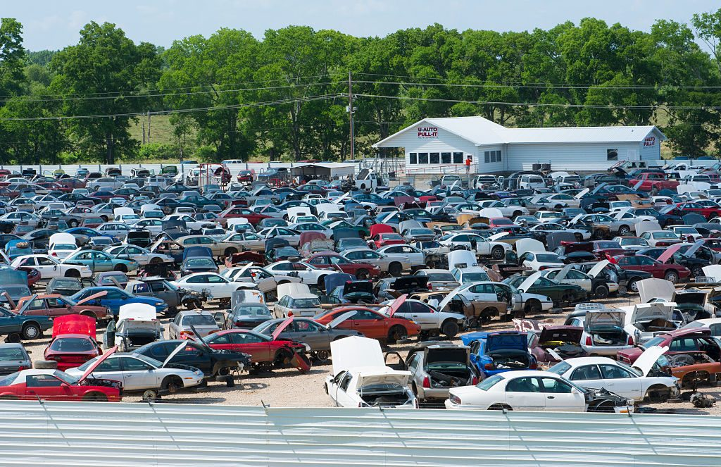 Cars at a Salvage Yard in Louisiana