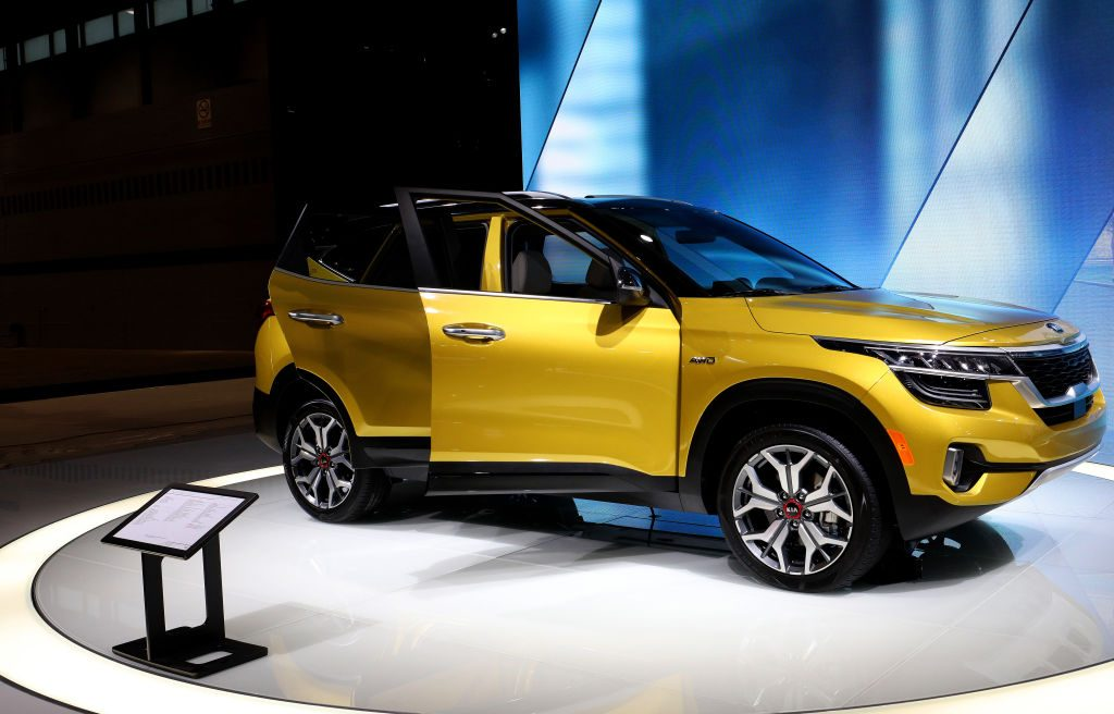 2021 Kia Seltos SX is on display at the 112th Annual Chicago Auto Show