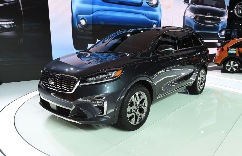 Kia introduces the 2019 Kia Sorento during the auto trade show AutoMobility LA at the Los Angeles Convention Center