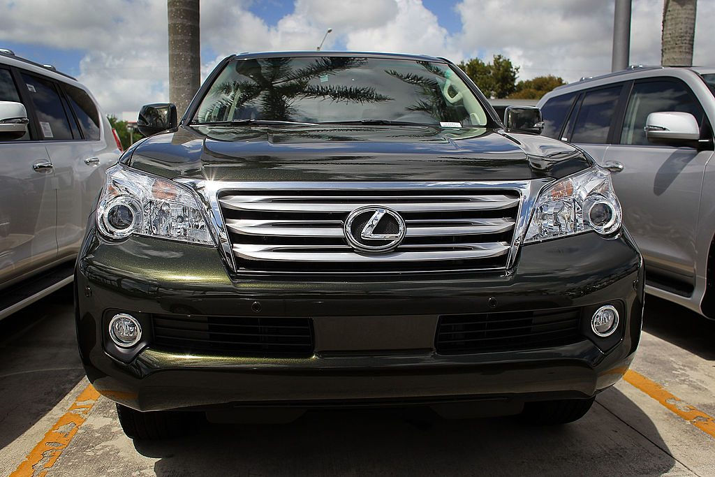 Lexus GX 460 SUVs are seen on a sales lot on April 13, 2010 in Coconut Creek, Florida