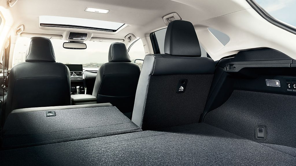 large and comfortable interior of the 2020 lexus NX 300 f sport compact luxury crossover SUV