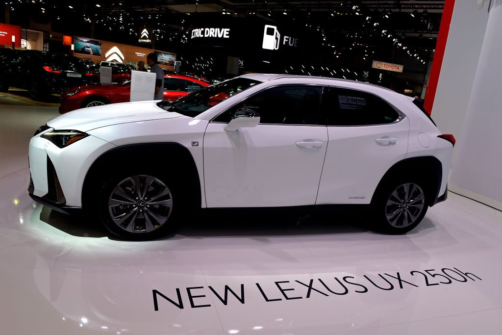 The new Lexus UX 250h is exposed at the 97th Brussels Motor