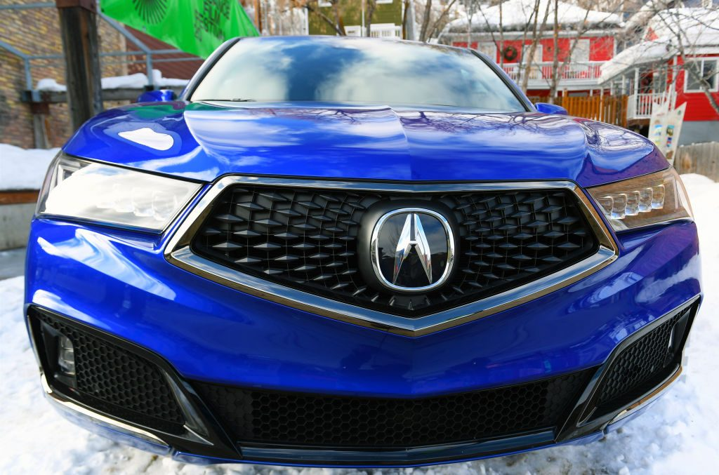 An Acura MDX is displayed during the 2020 Sundance Film Festival