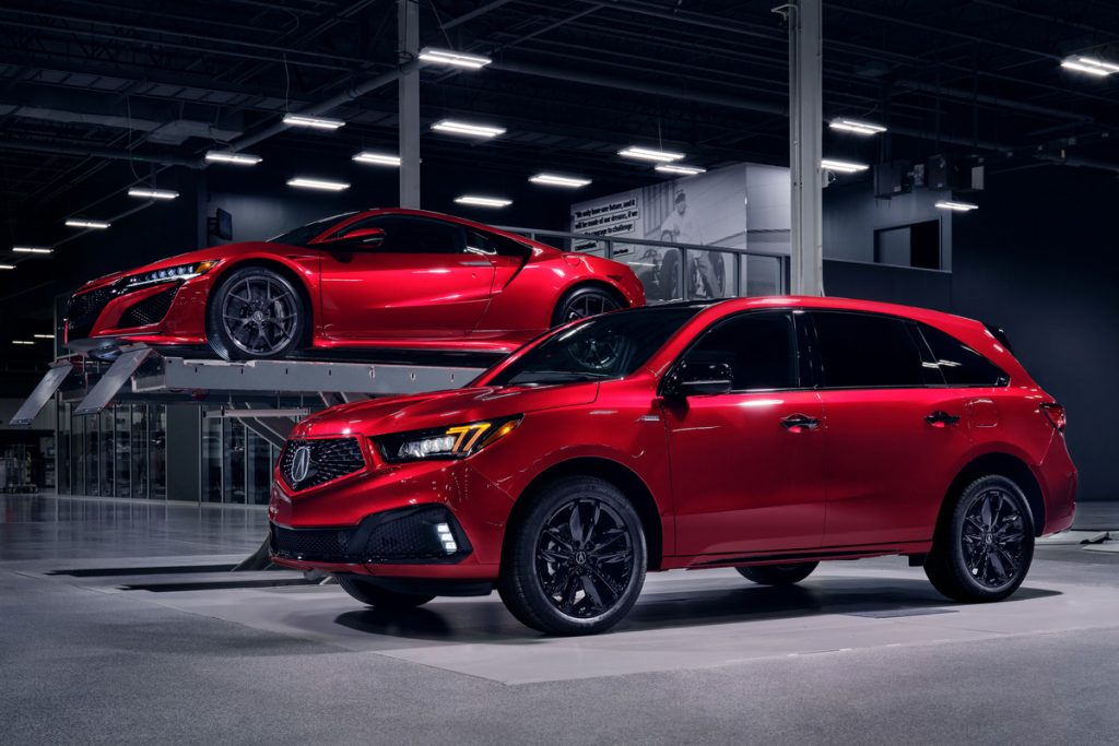 Red 2020 Acura MDX PMC Edition