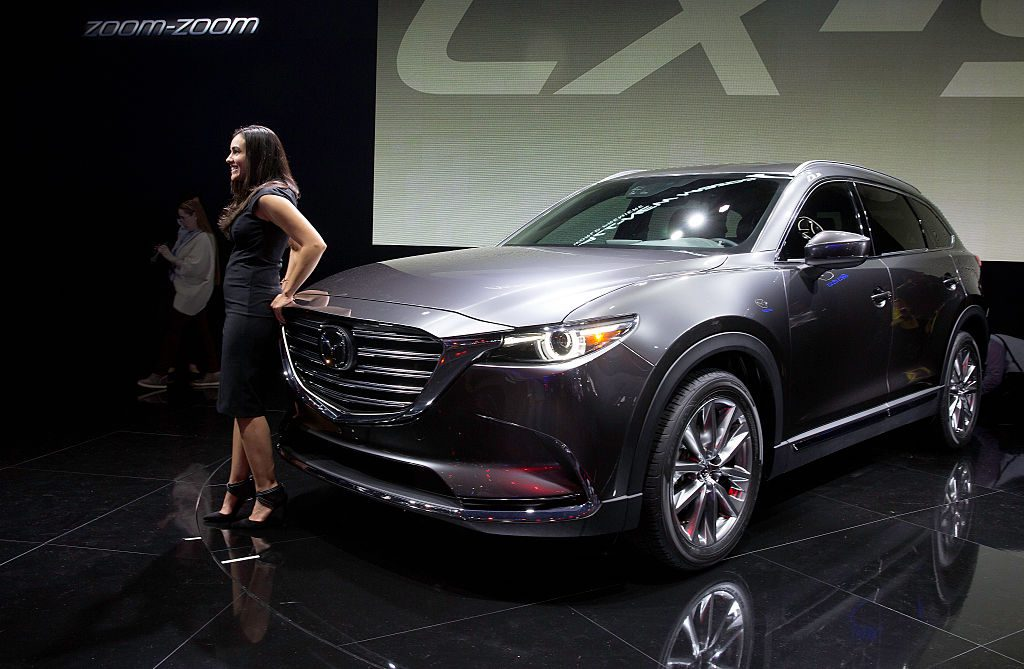 Mazda CX-9 at the Los Angeles Auto Show at the Los Angeles Convention Center
