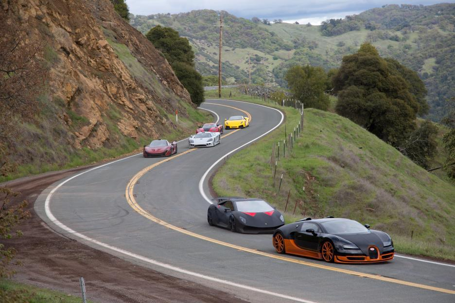 A scene from the 2014 film Need for Speed.