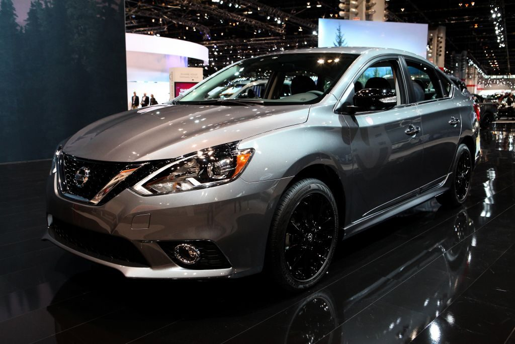 2017 Nissan Sentra is on display at the 109th Annual Chicago Auto Show at McCormick Place