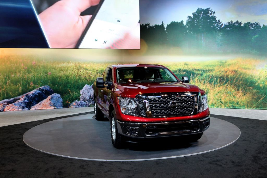 2017 Nissan Titan is on display at the 109th Annual Chicago Auto Show