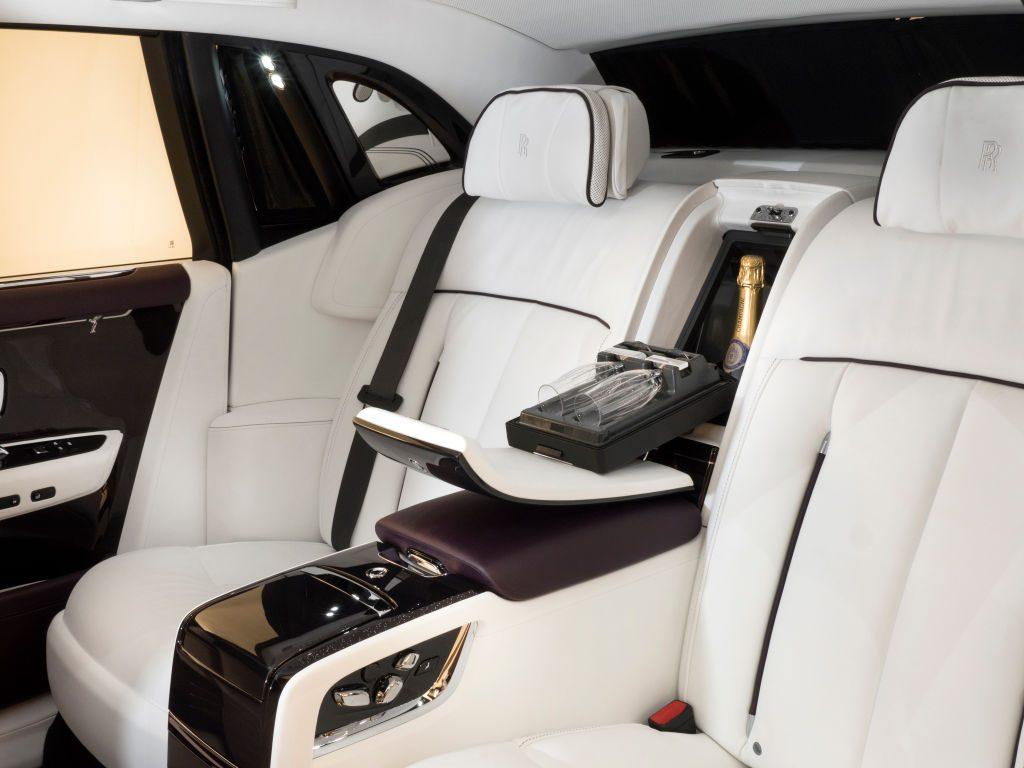 Rear interior of the Rolls-Royce Phantom VIII