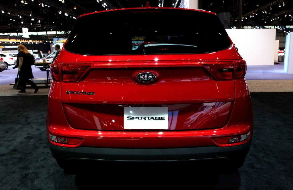 2017 Kia Sportage is on display at the 109th Annual Chicago Auto Show at McCormick Place
