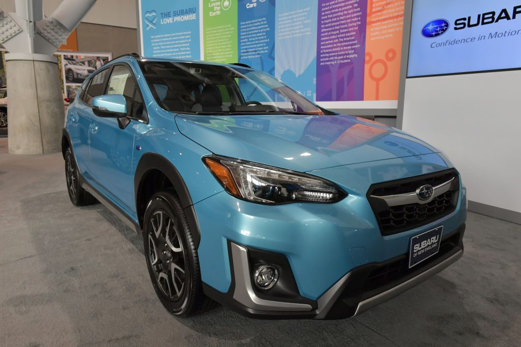 The Subaru 2019 Crosstrek Hydrid is seen at the 2019 New England International Auto Show