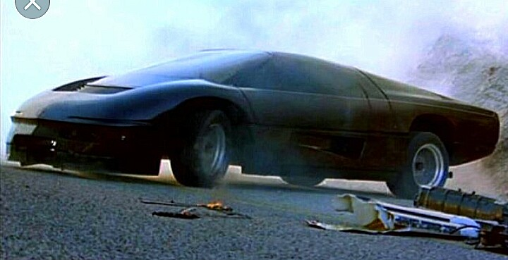 A scene from the 1986 movie The Wraith.