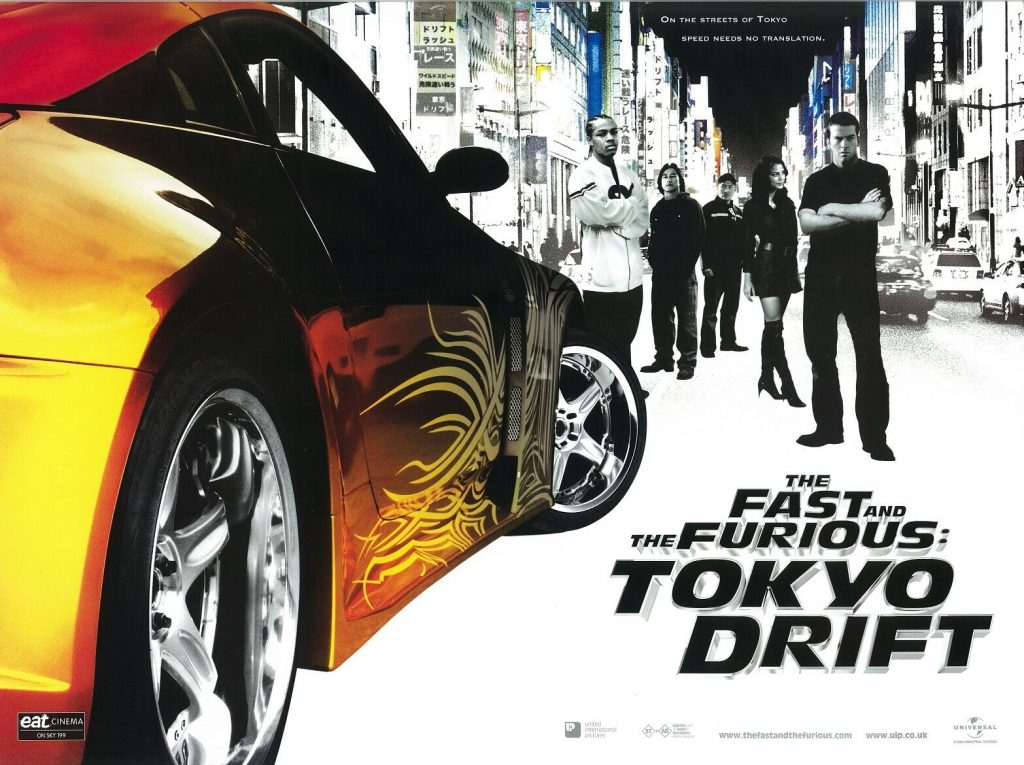 A movie poster for The Fast and the Furious: Tokyo Drift (2006).