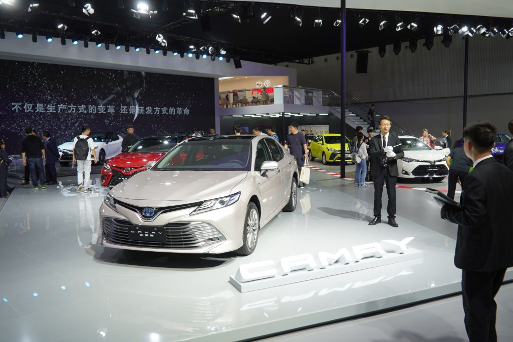 Toyota's new 'Camry' is showed at Guangzhou International Automobile Exhibition 2018 on November 16, 2018 in Guangzhou, China.
