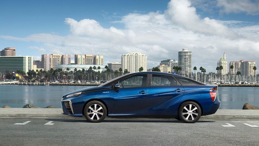 Blue Toyota Mirai