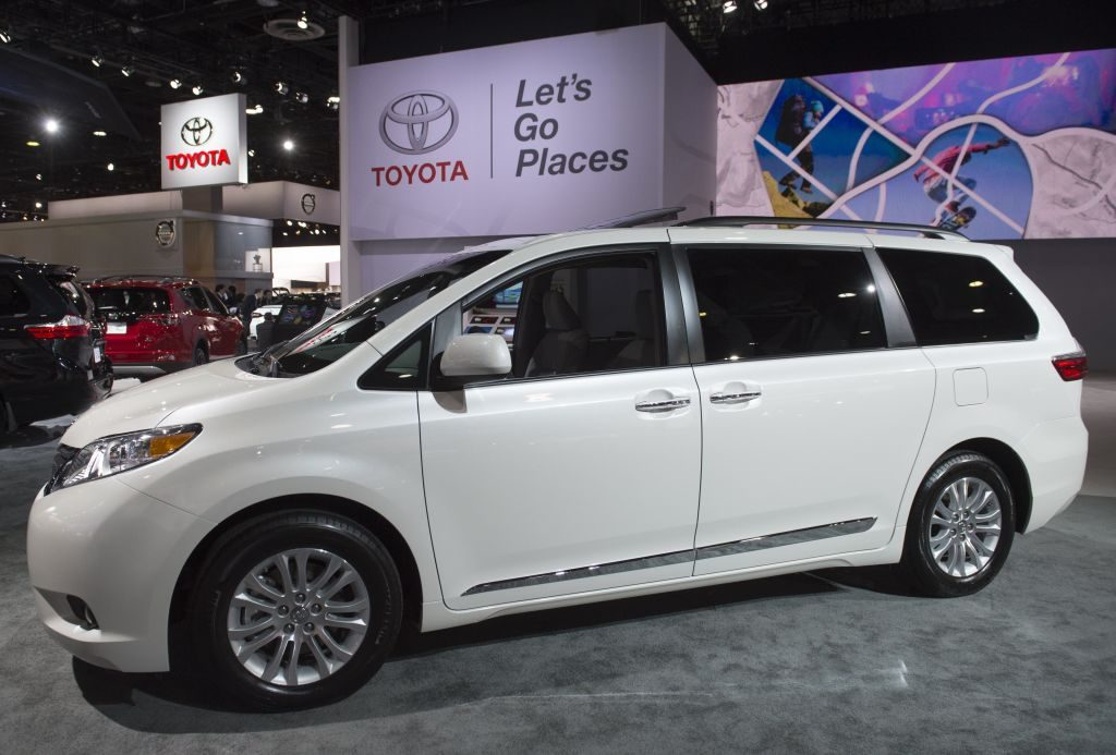 The 2017 Toyota Sienna minivan is seen during the 2017 North American International Auto Show