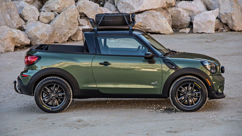 Profile of the Mini Paceman Adventure Concept