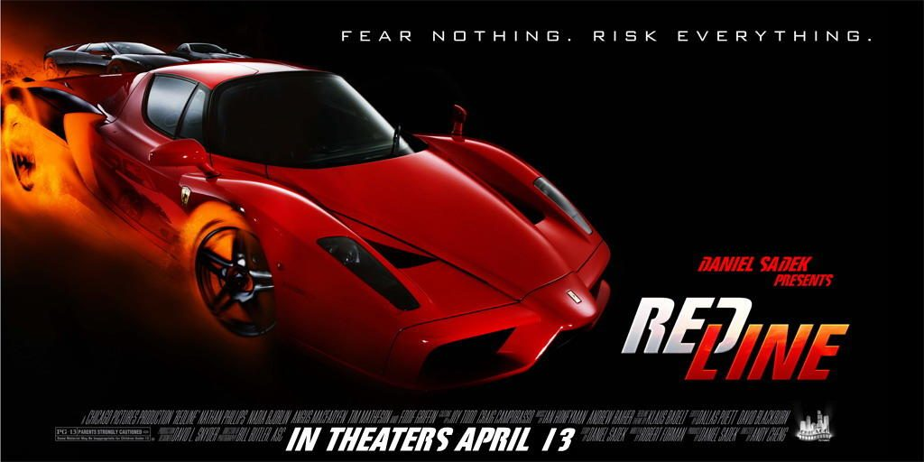 A movie poster for the 2007 film Redline.